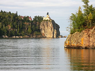 Split Rock Lighthouse State Park - Split Rock Lighthouse State Park seen from the shore of Lake Superior