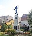 Spomenik izginulim šapčanima u ratovima 1912-1918 u porti crkve.jpg