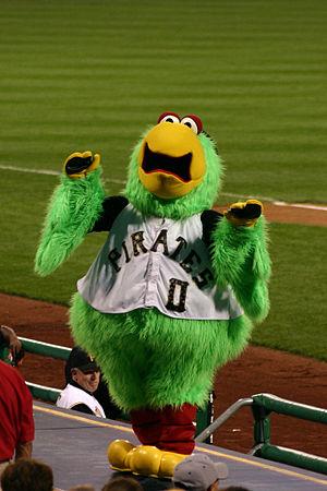 "The Pittsburgh Pirates' mascot, the ""Pira..."