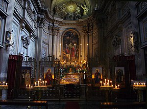 Santi Vincenzo e Anastasio a Trevi - Interior view with the Orthodox iconostasis and the altar