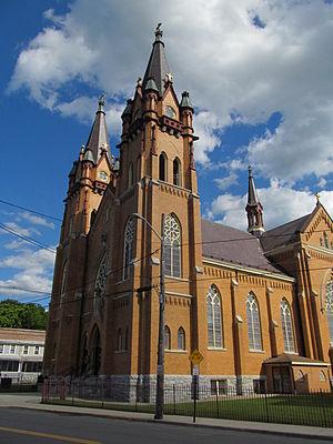St. Stanislaus Parish, Adams - Image: St. Stanislaus Parish, Adams MA