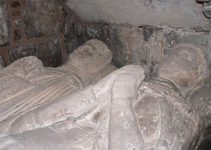 James Douglas, 7th Earl of Douglas - Tomb of James the Gross and his wife Beatrice Sinclair