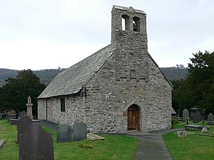 English: St Mary's Church, Caerhun Located wit...