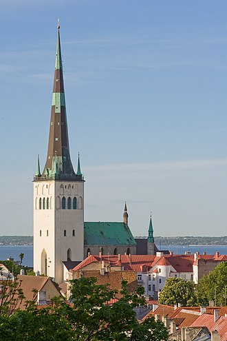 Baltic states - St. Olaf's church in Tallinn, Estonia