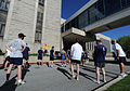 Staff and students assigned to U.S. Naval War College (NWC) in Newport, R.I., prepare to compete in the President's Cup 5K race May 10, 2013 130510-N-PX557-024.jpg