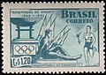 Stamp of Brazil - 1952 - Colnect 207809 - 1 - Olympic Flame and Athletes.jpeg