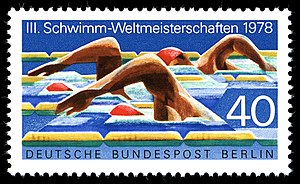 1978 World Aquatics Championships - A German stamp dedicated to the 1978 World Aquatics Championships
