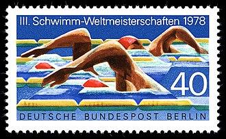 1978 World Aquatics Championships - A German stamp dedicated to the 1978 World Aquatics Championships