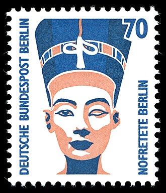 Nefertiti Bust - In 1989, a 70 pfennig stamp which featured the bust of Nefertiti was on issue in Germany.