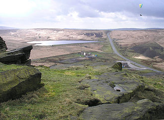 A62 road - Image: Standedge from Pule Hill