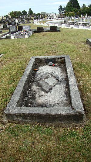 Stanley Graham - Stanley Graham's grave, Hokitika Cemetery