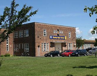 Stanley High School, Southport - Image: Stanley High School Entrance