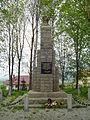 Stary Cmentarz w Radziechowach - pomnik upamiętniający ofiary wojny.JPG