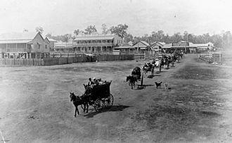 Wondai - A funeral procession in Wondai, ca. 1915