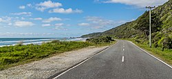 State Highway 6 at Woodpecker Bay 01.jpg