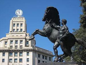 Plaça de Catalunya - A Neoclassical equestrian statue