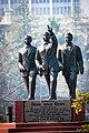 Statue of Benoy, Badal & Dinesh in front of Writers' Building, Kolkata.jpg
