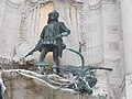Statue of King Matthias, Matthias Fountain, Royal palace, 2016 Budapest.jpg