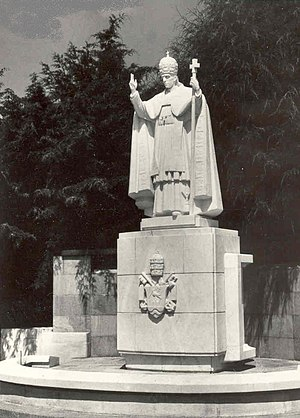 Pope Pius XII Consecration to the Immaculate Heart of Mary - Statue of Pope Pius XII in Fátima, Portugal.