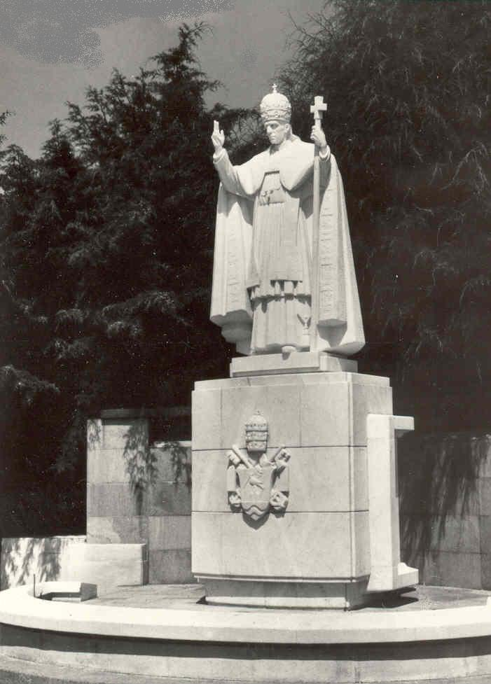 Statue of Pope Pius XII in Fatima Portugal