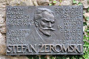Stefan Żeromski - Memorial plaque at the Rapperswil Castle