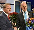 Stefan Löfven och Fredrik Reinfeldt efter slutdebatten i SVT.jpg