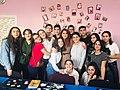 Stepanakert Wikiclub celebrating its birthday.jpg