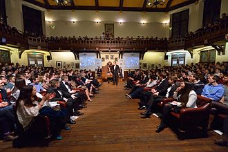 The Cambridge Union - Image: Stephen Fry at the Cambridge Union