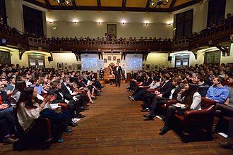 The Cambridge Union - Image: Stephen Fry at the Cambridge Union