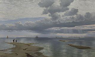 Stille eftermiddag udover sandgrundene ved Lynæs