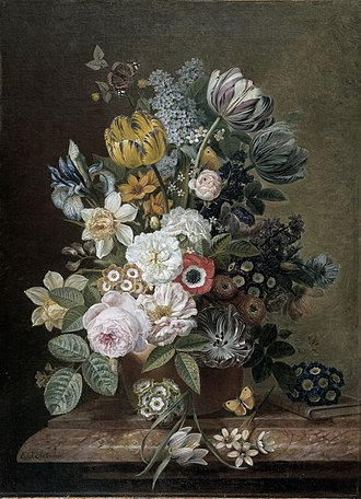 Eelke Jelles Eelkema - Image: Stilleven met bloemen Rijksmuseum SK A 3454