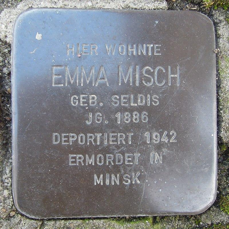 Stolperstein für Emma Misch