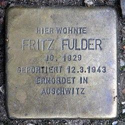Photo of Fritz Fulder brass plaque