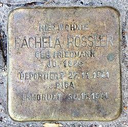 Photo of Rachela Rössler brass plaque