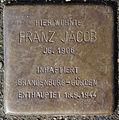 Stolperstein Jarrestraße 21 (Franz Jacob) in Hamburg-Winterhude.JPG