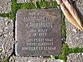 Stolperstein Margarethe Kaufmann, 1, Brunnenfeldstraße 1, Bad Wildungen, Landkreis Waldeck-Frankenberg.jpg
