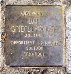 Photo of Dan Spiegel-Wolff brass plaque