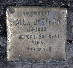 Photo of Alex Jastrow brass plaque
