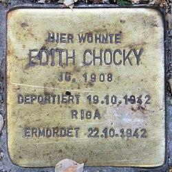 Photo of Edith Chocky brass plaque