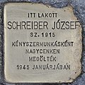 Stolperstein für Jozsef Schreiber (Budapest).jpg