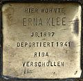 Stumbling block for Erna Klee (Weyerstraße 122)