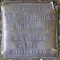 Stolpersteine Köln, Ernestine Dina Meinhardt (Am Rinkenpfuhl 10).jpg
