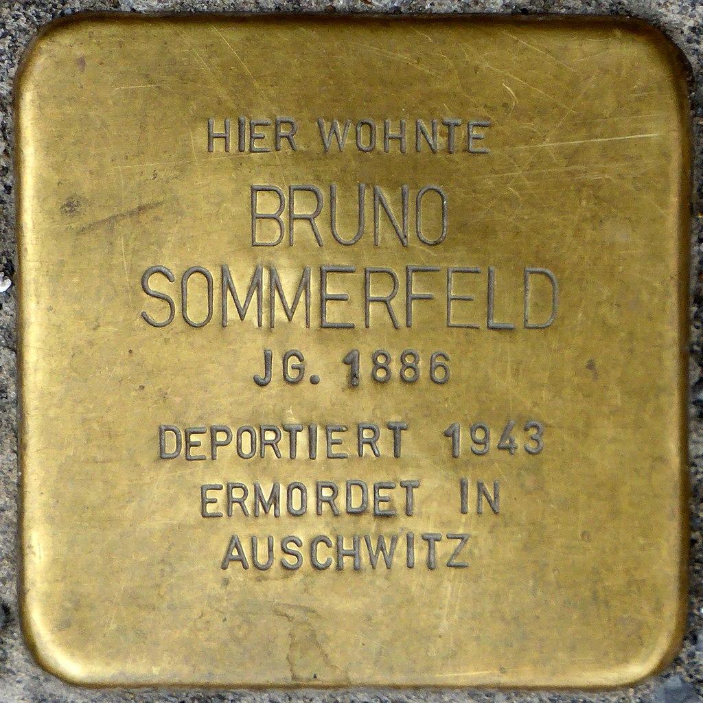 Stolperstein für Bruno Sommerfeld (Steinweg 81)