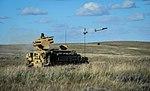 Stormer vehicle fring a Starstreak High Velocity Missile (HVM) on Ex Javelin. MOD 45158838.jpg