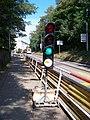 Strašnice, Průběžná, přenosný semafor, zelená.jpg