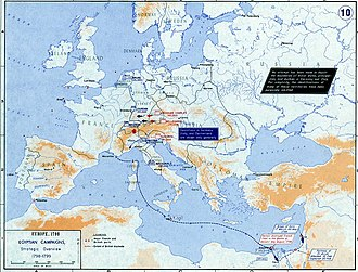 War of the Second Coalition - Strategic overview of operations in Europe and the Mediterranean in 1798–1799