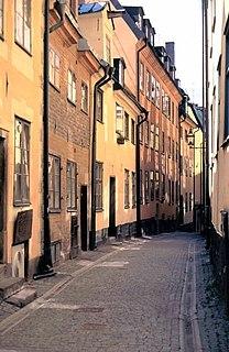 Prästgatan street in Gamla stan, Stockholm, Sweden