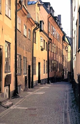 Gamla stan - Prästgatan, one of the old thoroughfares of Gamla stan.