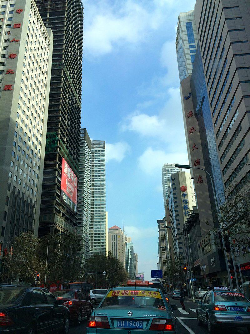 Street view on Renmin Road, Dalian.jpg
