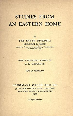 Studies from an Eastern Home - Title page of 1913 edition